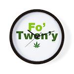 fo-tweny-green-on-white Wall Clock