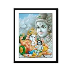 Ganesh and Krishna Framed Print