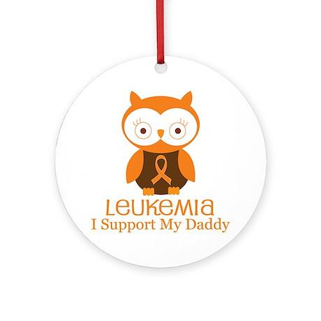 Daddy Leukemia Support Ornament (Round)
