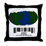 Earth Day UPC Code Throw Pillow