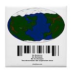 Earth Day UPC Code Tile Coaster