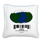 Earth Day UPC Code Square Canvas Pillow