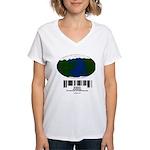 Earth Day UPC Code Women's V-Neck T-Shirt