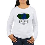 Earth Day UPC Code Women's Long Sleeve T-Shirt