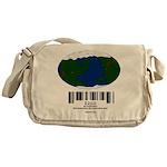 Earth Day UPC Code Messenger Bag