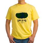 Earth Day UPC Code Yellow T-Shirt