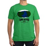 Earth Day UPC Code Men's Fitted T-Shirt (dark)