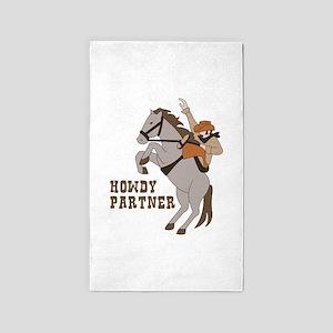 Howdy Partner 3'x5' Area Rug