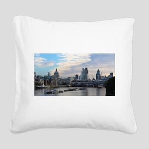 London Skyline Square Canvas Pillow