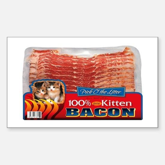"""Kitten Bacon"" Rectangle Decal"