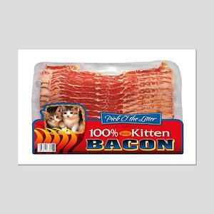 """Kitten Bacon"" Mini Poster Print"