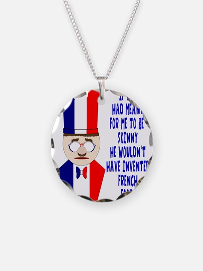 Dark Blue French Chef Necklace