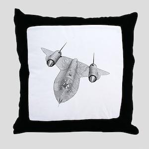 SR-71 Blackbird Throw Pillow
