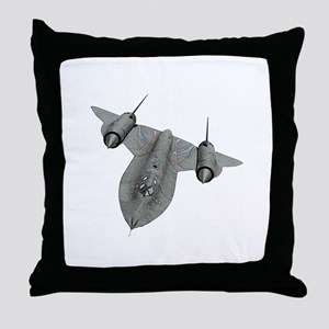 SR-71 Blackbird Throw Pillow