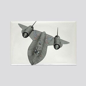 SR-71 Blackbird Rectangle Magnet