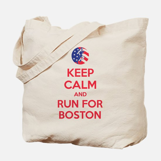 Keep calm and run for Boston Tote Bag