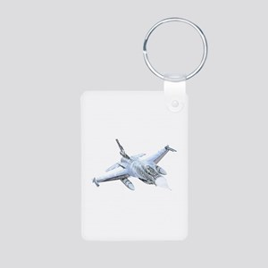 F-16 Falcon Aluminum Photo Keychain