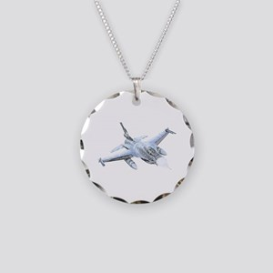 F-16 Falcon Necklace Circle Charm