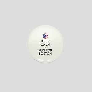 Keep calm and run for Boston Mini Button