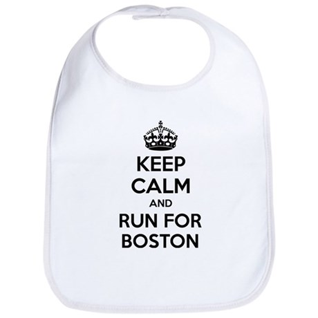 Keep calm and run for Boston Bib