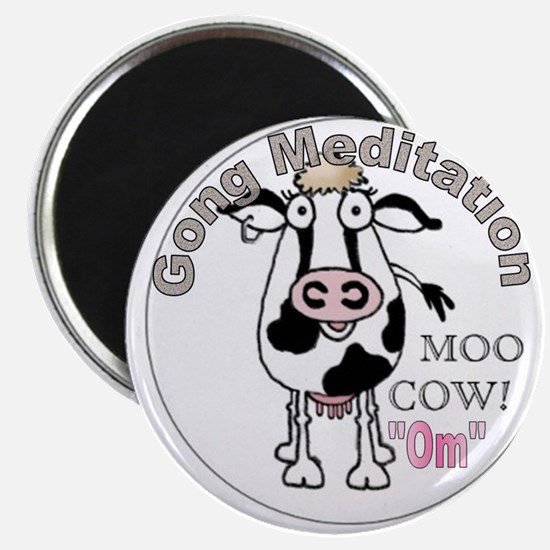"""Moo Cow Om (Round) 2.25"""" Magnet (10 pack)"""