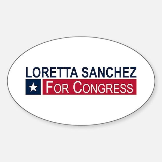 Elect Loretta Sanchez Sticker (Oval)