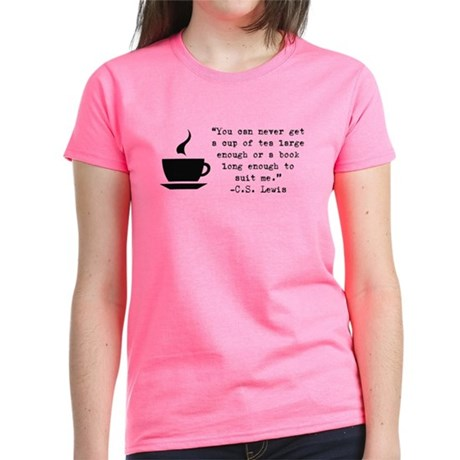 Large Tea And Book T-Shirt