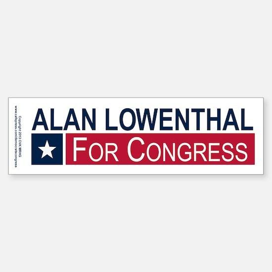 Elect Alan Lowenthal Sticker (Bumper)