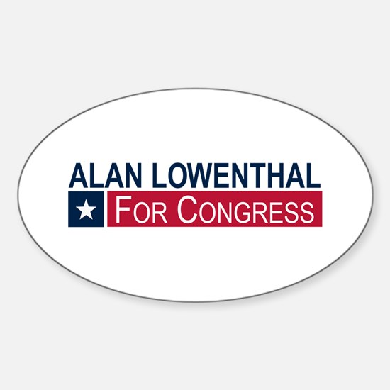 Elect Alan Lowenthal Sticker (Oval)