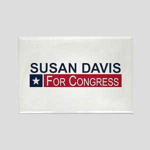 Elect Susan Davis Rectangle Magnet
