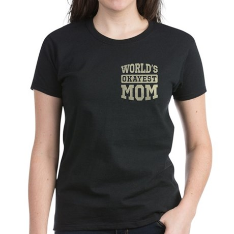 Vintage World's Okayest Mom Women's Dark T-Shirt