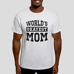 Vintage World's Okayest Mom Light T-Shirt