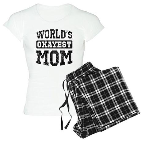 Vintage World's Okayest Mom Women's Light Pajamas