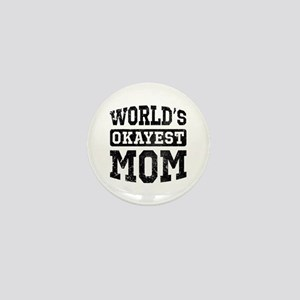Vintage World's Okayest Mom Mini Button