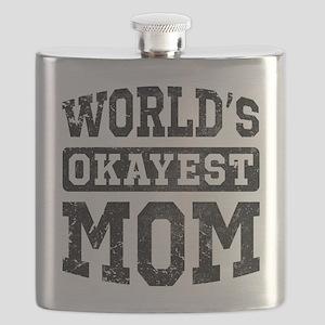 Vintage World's Okayest Mom Flask