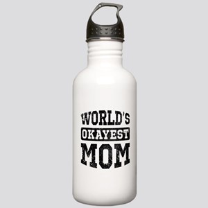 Vintage World's Okayest Mom Stainless Water Bottle