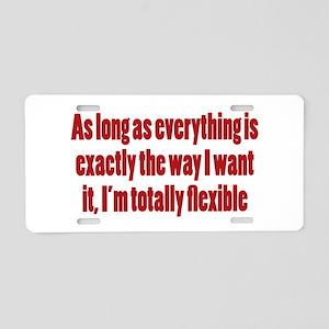 Bossy Flexibility Aluminum License Plate