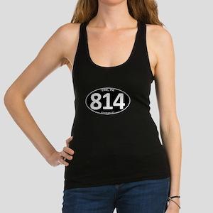 Black Erie, PA 814 Racerback Tank Top