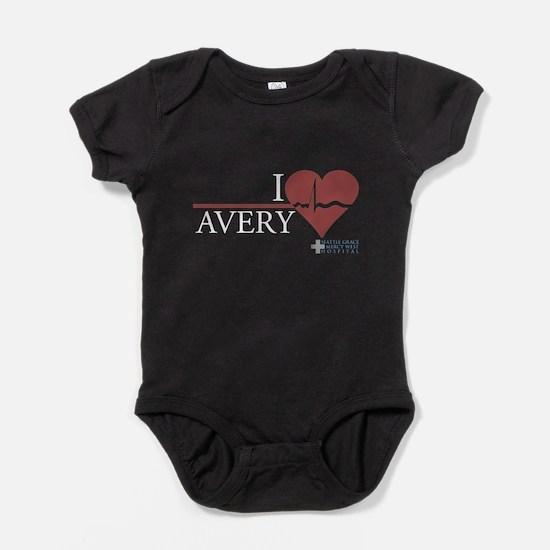 I Heart Avery - Grey's Anatom Baby Bodysuit