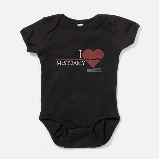 I Heart McSTEAMY Baby Bodysuit