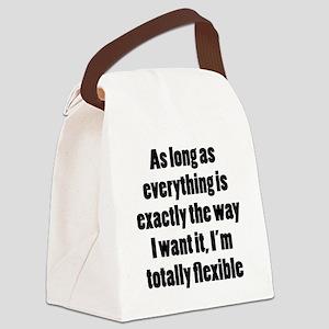 Controlling Flexibility Canvas Lunch Bag