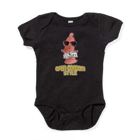 Dancing Open Condom Style Baby Bodysuit
