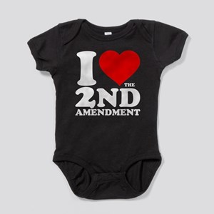 I Heart the 2nd Amendment Baby Bodysuit