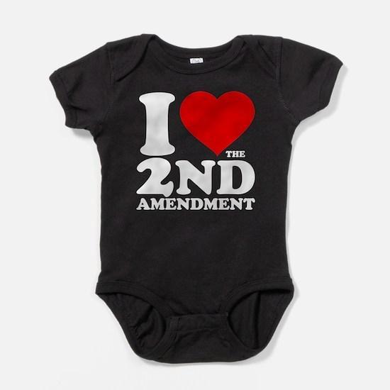 I Heart the 2nd Amendment Baby Bodysuit