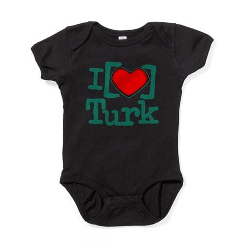I Heart Turk Baby Bodysuit