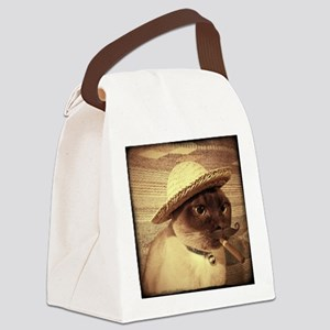 Gato w/Cigar Canvas Lunch Bag