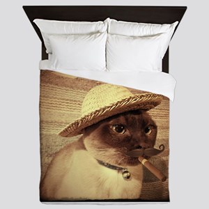 Gato w/Cigar Queen Duvet