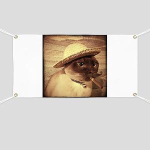 Gato w/Cigar Banner