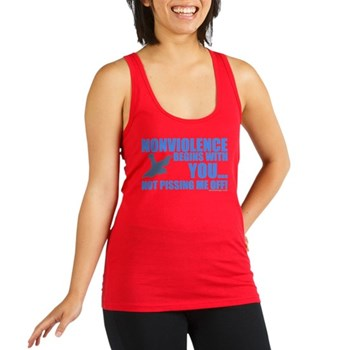 Nonviolence Begins with You.. Racerback Tank Top