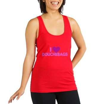 I Heart Douchebags Racerback Tank Top